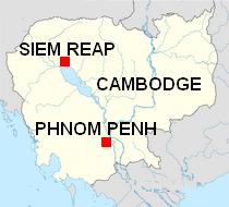 Siem Reap map Cambodia