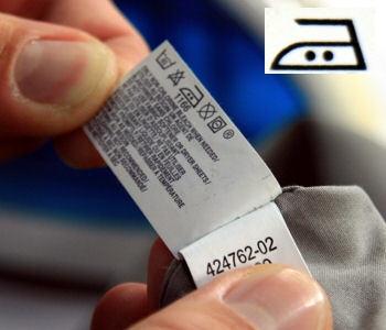 Etiquette entretien textile
