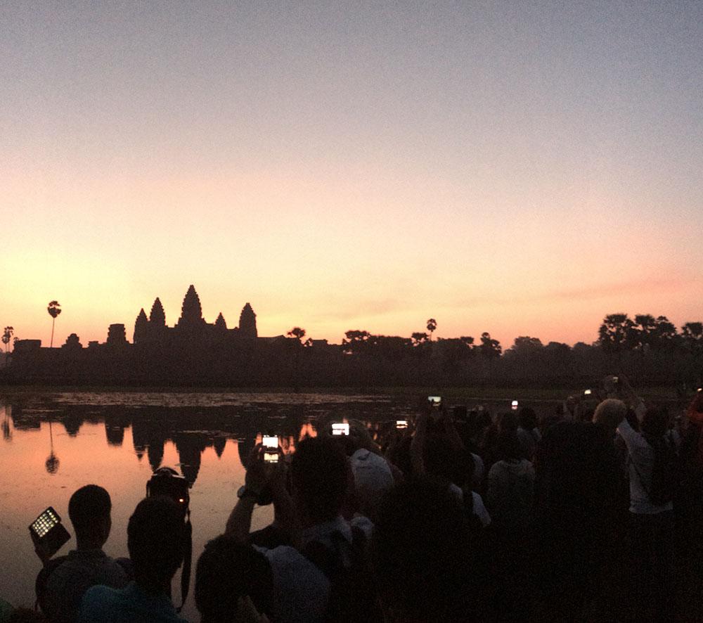 Lever du soleil sur Angkor Vat